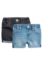 2-pack denim shorts - Light blue - Kids | H&M CA 1