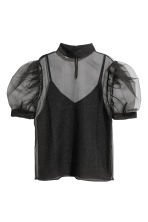 Sheer top - Black - Ladies | H&M CN 2