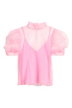 Sheer top - Light pink - Ladies | H&M IE 2