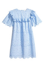 Dress with broderie anglaise - Light blue - Ladies | H&M 2