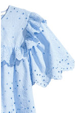 Dress with broderie anglaise - Light blue - Ladies | H&M 3