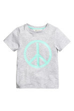 Light grey/Peace sign
