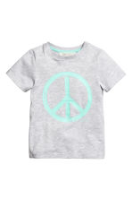 Printed T-shirt - Light grey/Peace sign - Kids | H&M 2