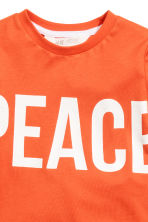 Printed T-shirt - Orance/Peace - Kids | H&M 3