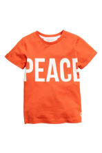 Printed T-shirt - Orance/Peace - Kids | H&M 2