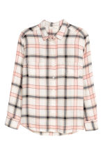 H&M+ Flannel shirt - Natural white/Checked - Ladies | H&M 2