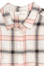 H&M+ Flannel shirt - Natural white/Checked - Ladies | H&M 3
