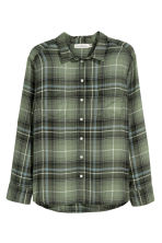 H&M+ Flannel shirt - Green/Checked - Ladies | H&M 2