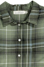 H&M+ Flannel shirt - Green/Checked - Ladies | H&M 3