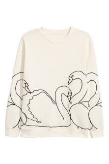 H&M+ Embroidered sweatshirt