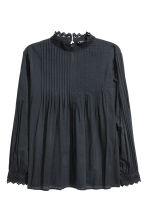 H&M+ Blouse with pin-tucks - Dark grey - Ladies | H&M 2