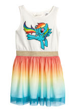 Dress with a tulle skirt - White/My Little Pony - Kids | H&M 1