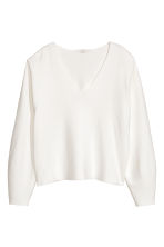 V-neck jumper - Natural white - Ladies | H&M CN 2