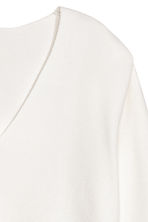 V-neck jumper - Natural white - Ladies | H&M CN 3