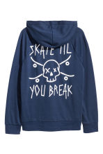 Jersey hooded top - Dark blue -  | H&M 2