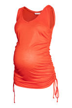 MAMA Drawstring vest top - Orange -  | H&M CN 2