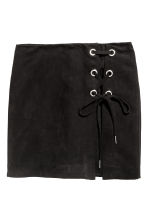 Skirt with lacing - Black - Ladies | H&M 2
