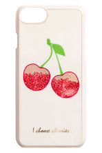 iPhone 7 case - White/Cherry - Ladies | H&M 1