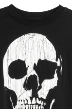 Printed jersey top - Black/Skull -  | H&M 3