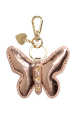 Keyring - Rose gold-coloured/Butterfly - Ladies | H&M 1