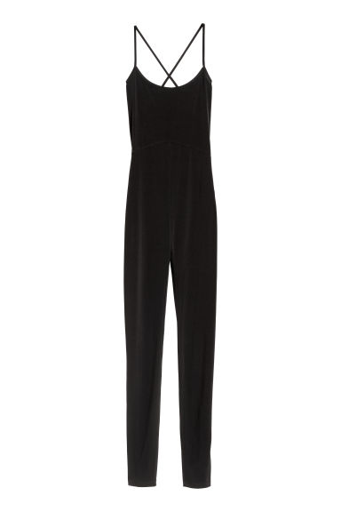 Fitted jumpsuit - Black - Ladies | H&M GB