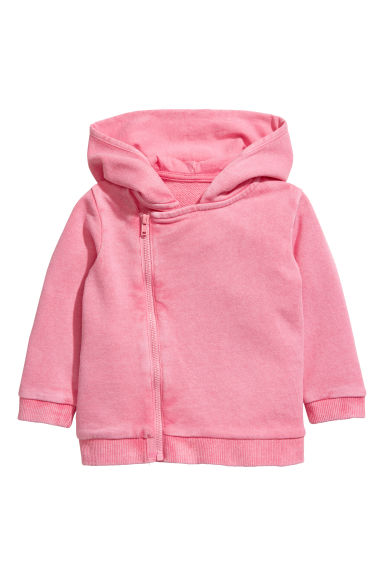 Hooded jacket - Pink - Kids | H&M CN 1