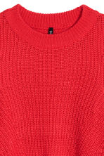 Ribbed jumper - Bright red - Ladies | H&M 3