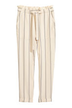 Striped trousers - Natural white/Striped - Ladies | H&M 2