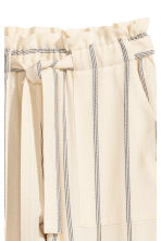 Striped trousers - Natural white/Striped - Ladies | H&M 3