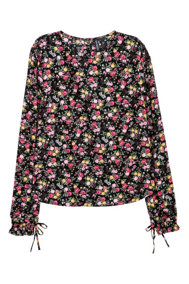 Patterned blouse - Black/Floral - Ladies | H&M