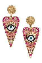 Large earrings - Gold/Pink - Ladies | H&M 1