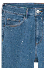 Slim High Ankle Jeans - Blue/Sparkly stones - Ladies | H&M CN 5