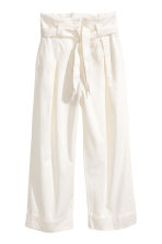 Wide-cut Pants - White - Ladies | H&M CA 2