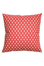 Patterned cushion cover - Red/Patterned -  | H&M IE 1