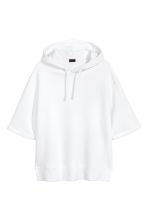 Short-sleeved hooded top - White - Men | H&M 2