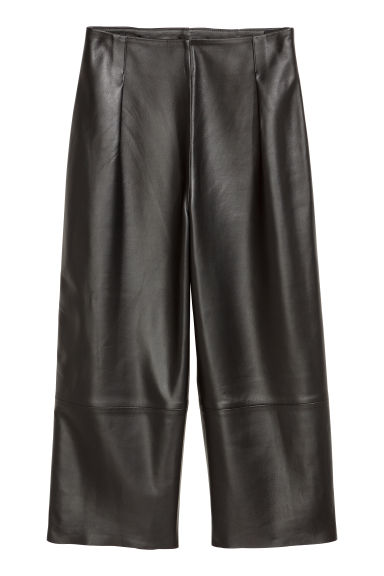 Leather culottes - Black -  | H&M