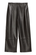 Leather culottes - Black - Ladies | H&M IE 2