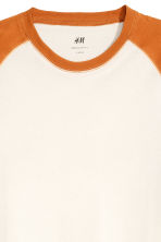 T-shirt with raglan sleeves - White/Dark yellow - Men | H&M GB 2