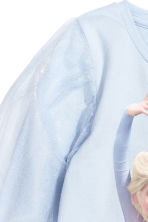 Jersey top with tulle sleeves - Light blue/Frozen - Kids | H&M CN 3