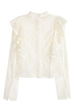 Lace blouse - White - Ladies | H&M 3