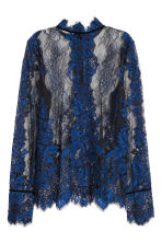Lace blouse - Blue/Black - Ladies | H&M IE 3