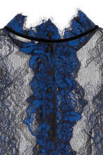 Lace blouse - Blue/Black - Ladies | H&M IE 4