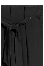 Trousers with a tie belt - Black - Ladies | H&M 3
