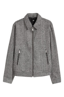 Dogtooth-patterned jacket