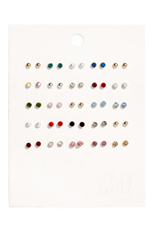 25 pairs stud earrings