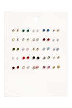 25 pairs stud earrings - Gold-coloured/Multicoloured - Ladies | H&M 1