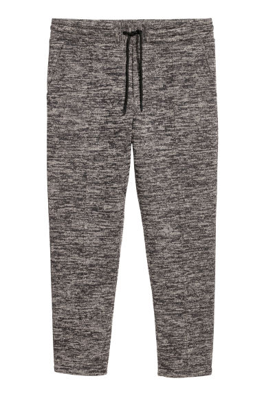 Ankle-length jersey joggers - Black marl - Men | H&M
