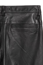 Leather trousers - Black - Men | H&M 3