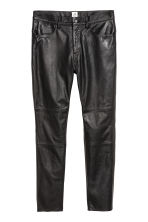 Leather trousers - Black - Men | H&M 2