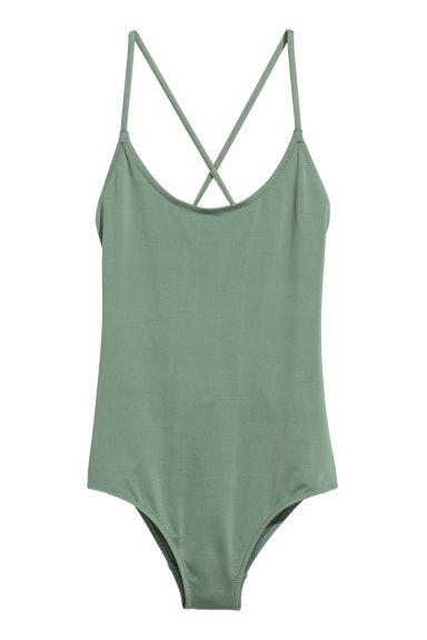 Swimsuit with lacing - Dusky green - Ladies | H&M CN